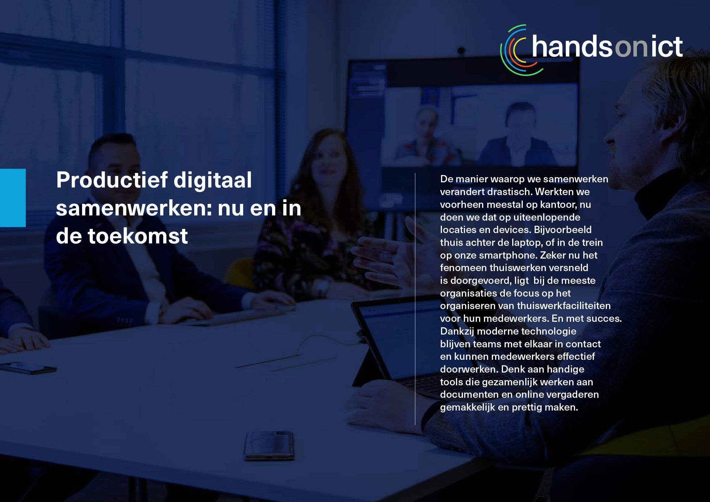 Productief digitaal samenwerken: nu en in de toekomst