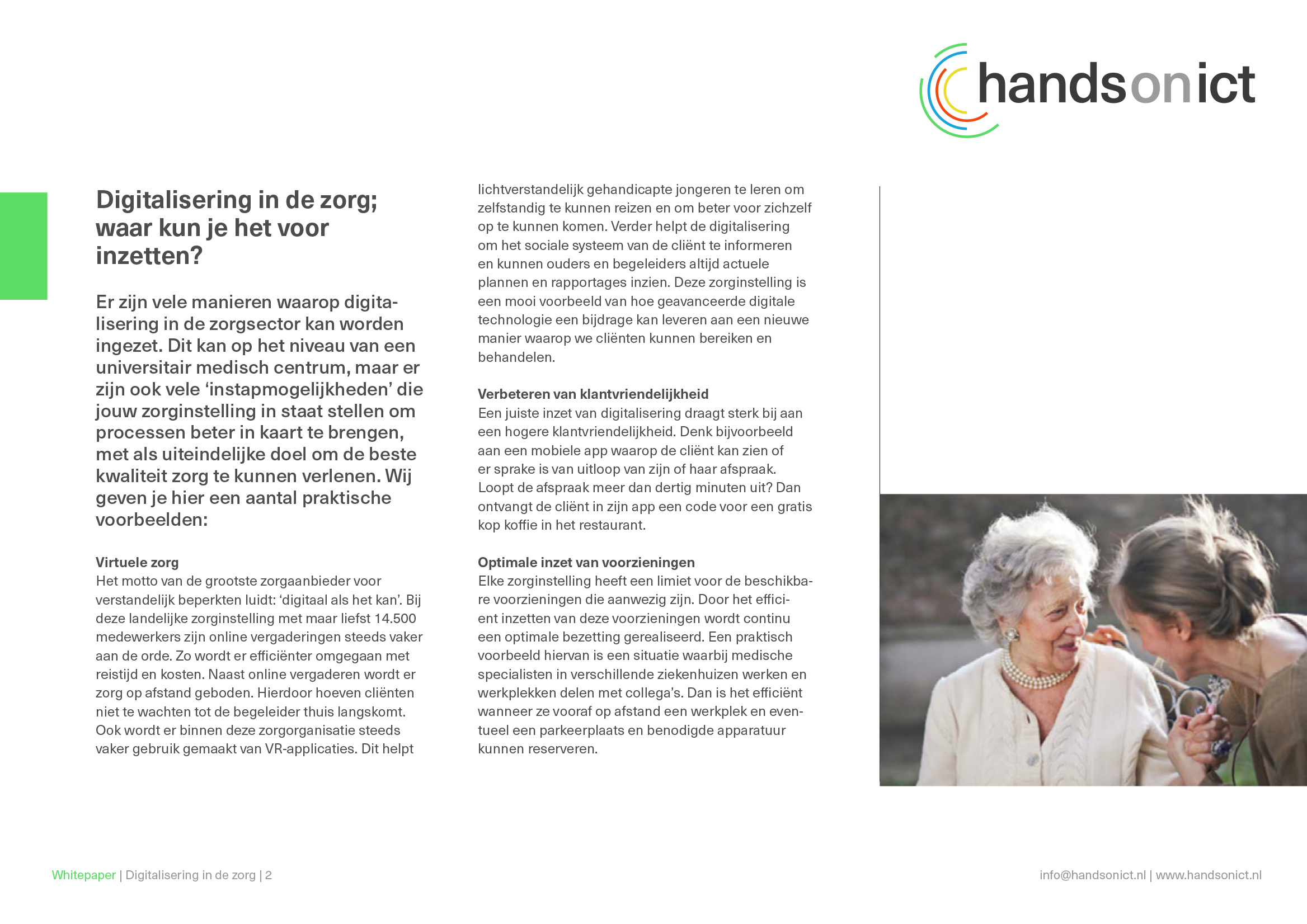 Sneak preview_2 whitepaper digitalisering in de zorg